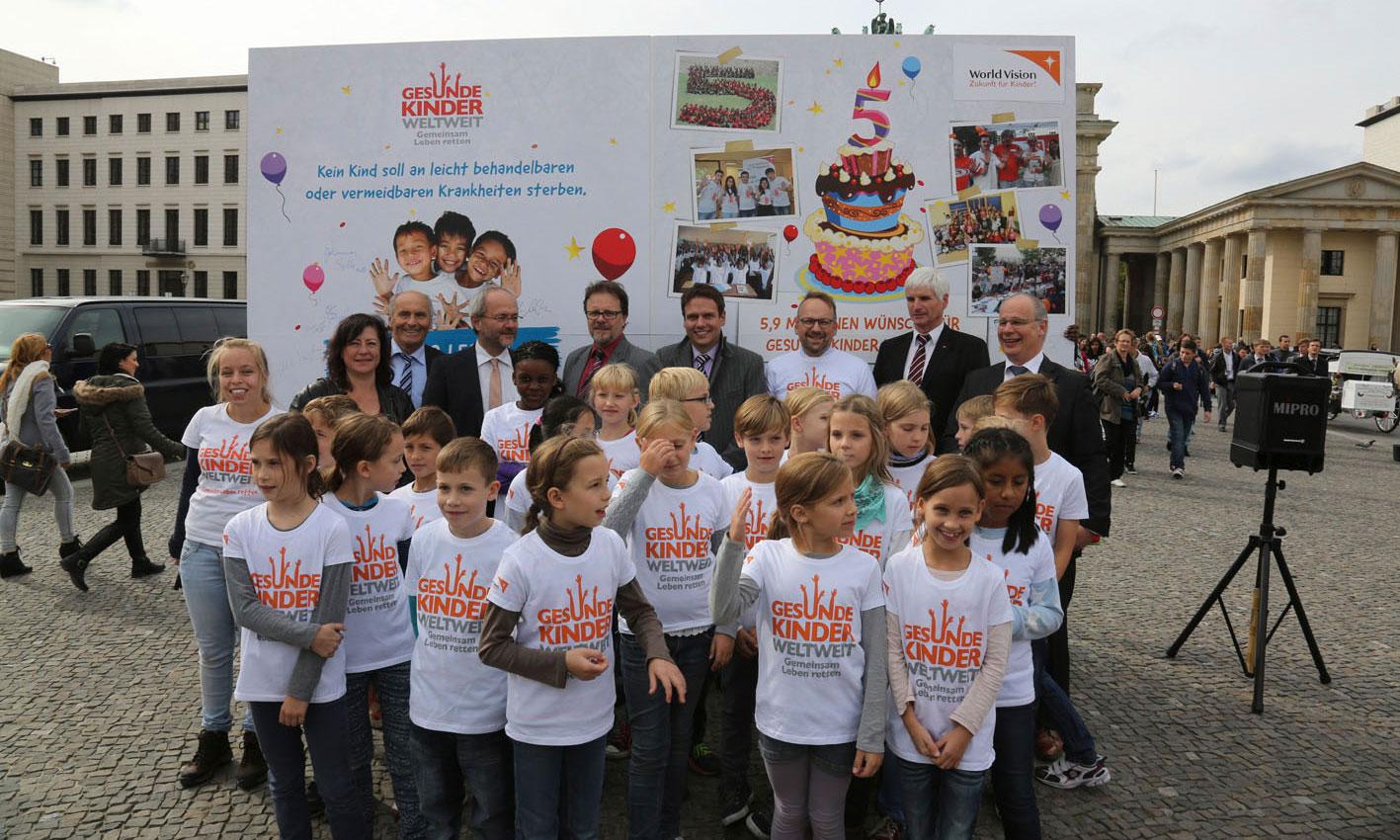 """Kampagne """"Gesunde Kinder weltweit"""", World Vision"""